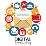 Illustration Graphic Vector Digital Marketing. For different purpose Stock Photography