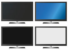 Illustration Graphic Vector Flatscreen with Copyspace. For the creative use in graphic design Royalty Free Stock Photo
