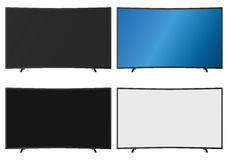 Illustration Graphic Vector Flatscreen with Copyspace. For the creative use in graphic design Royalty Free Stock Image