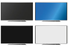 Illustration Graphic Vector Flatscreen with Copyspace. For the creative use in graphic design Stock Photography