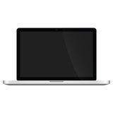 Illustration Graphic Vector Laptop with black screen Stock Images