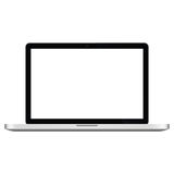 Illustration Graphic Vector Laptop with white screen Stock Photo