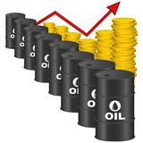 Illustration Graphic Vector Price of Oil Royalty Free Stock Image