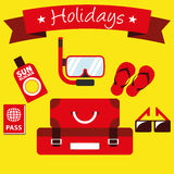 Illustration Graphic Vector Summer, Travel, Holiday Stock Photo