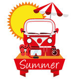 Illustration Graphic Vector Summer, Travel, Holiday Royalty Free Stock Photography
