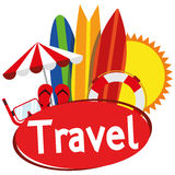Illustration Graphic Vector Summer, Travel, Holiday Royalty Free Stock Image