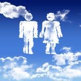 Réseau social UN HOMME ET UNE FEMME. Illustration graphique d`un réseau social, UN HOMME ET UNE FEMME SOUS FORME DE NUAGE vector illustration