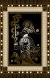 Illustration graphique d'une carte de tarot 8 illustration de vecteur