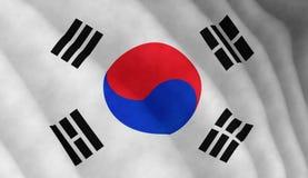 Illustration graphique de drapeau coréen image libre de droits
