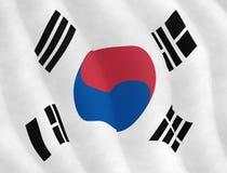 Illustration graphique de drapeau coréen images libres de droits