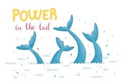 Illustration graphique de queue de sirène illustration libre de droits