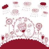 Illustration graphique des fleurs Photos stock