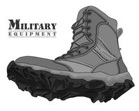Illustration Gray Army Boot de vecteur Photos libres de droits