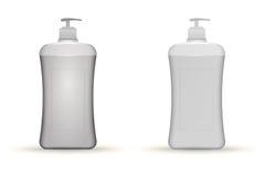 Illustration of gray dispenser pump bottles mock Royalty Free Stock Image