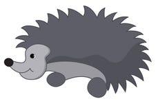 Illustration of gray hedgehog - vector Stock Image