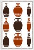 Illustration of greek vases Royalty Free Stock Photo
