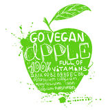 Illustration Of  Green Apple Silhouette. Stock Photos