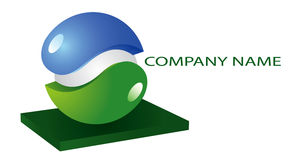 Illustration green blue logo Royalty Free Stock Photos