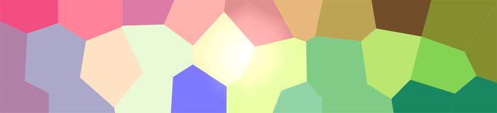 Illustration of green, blue, yellow and red giant hexagon background, abstract banner. Illustration of green, blue, yellow and red giant hexagon background royalty free illustration