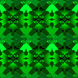 Illustration of green Celtic pattern Royalty Free Stock Image