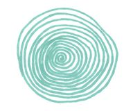 Illustration of green circle markers with lines royalty free illustration