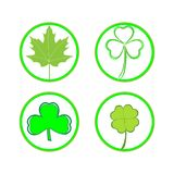 Vector set of clover icons on white background stock photo