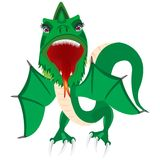 Illustration of the green dragon Royalty Free Stock Photos