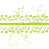 Illustration of green floral. Abstract green floral, illustration background Royalty Free Stock Images