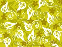 Illustration of green floral pattern Stock Photos
