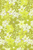 Illustration with green flowers. Stock Photography