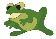 illustration of green frog - vector Royalty Free Stock Photography