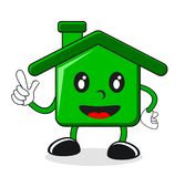 Illustration of green house Royalty Free Stock Photo