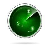 Illustration of green locating radar for business Stock Photo