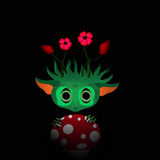 Illustration of a green monster with flowers Royalty Free Stock Photos