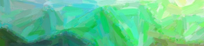 Illustration of green Oil Paint with big brush background, abstract banner. Illustration of green Oil Paint with big brush background, abstract paint stock photo