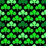Illustration green pattern with clover Royalty Free Stock Photography