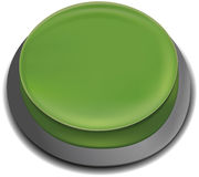 Illustration of Green Push Button Stock Photo