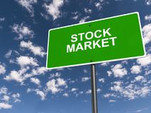 Stock market illustration. An illustration of a green sign with the text 'Stock Market Stock Photos