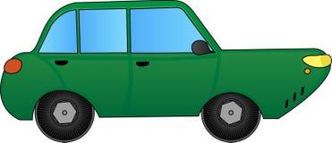 Illustration - Green sports car Stock Image