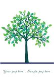 Illustration of green tree Royalty Free Stock Image