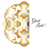 Illustration of  greeting card with round ornate Royalty Free Stock Photos