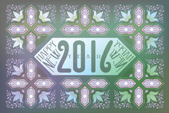 Illustration for 2016. 2016 Greeting Card with Texture vector illustration
