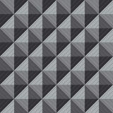 Illustration of greyscale squre 3D seamless background Royalty Free Stock Images