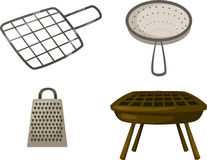 Illustration grill grate vector Stock Image