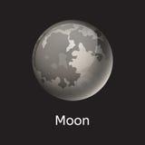 Illustration grise de haute qualité de vecteur d'étoile d'orbite de globe de la science de lune d'astronomie de galaxie de planèt Photographie stock libre de droits