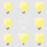 Illustration grise jaune d'icône d'ampoule de lampe d'idée Illustration de Vecteur