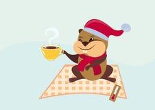 Illustration Groundhog Day Stockfotos