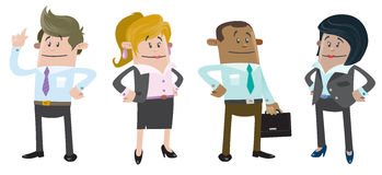 Business Buddies ready for work Royalty Free Stock Photography