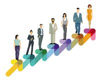 Ascending business people stock photo