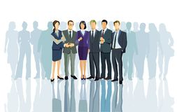Group of business people. Illustration of group of business people standing together stock image